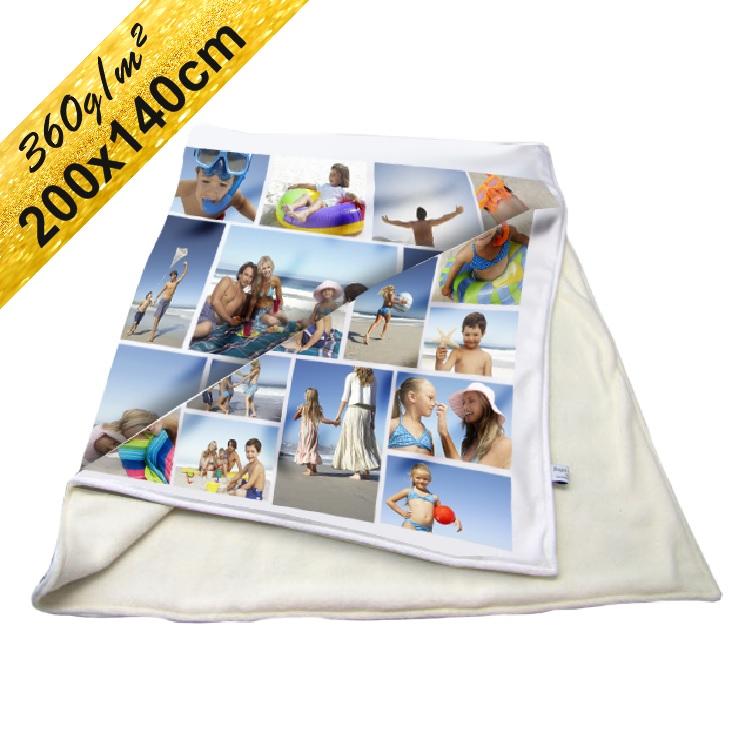 Deka Maxi s neobmedzeným počtom fotografií, textov, farieb 360g/m² 140x200 cm