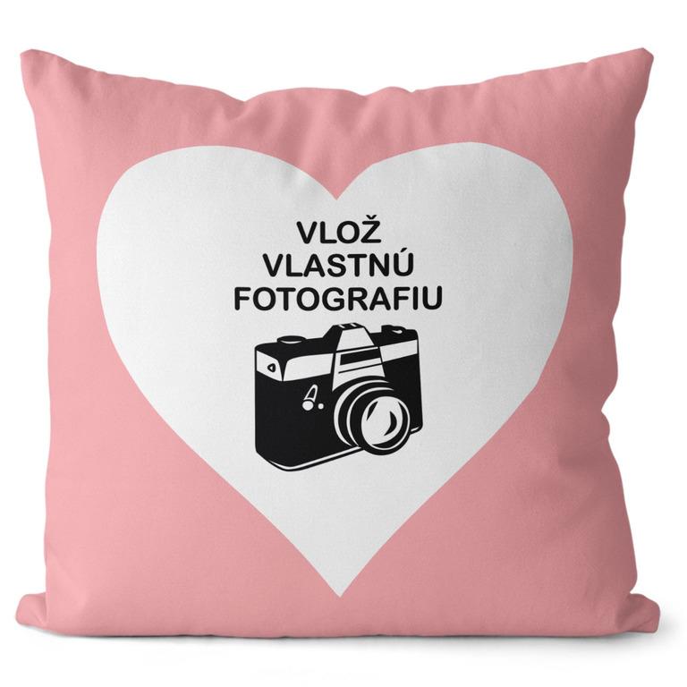 Fotovankúš Srdce 40x40 cm