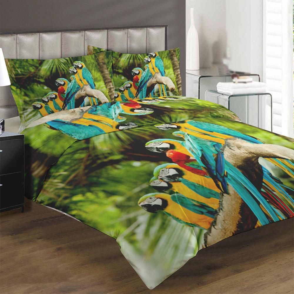 Obliečky Papagáje (Rozmer: 1x140/200 + 1x90/70)