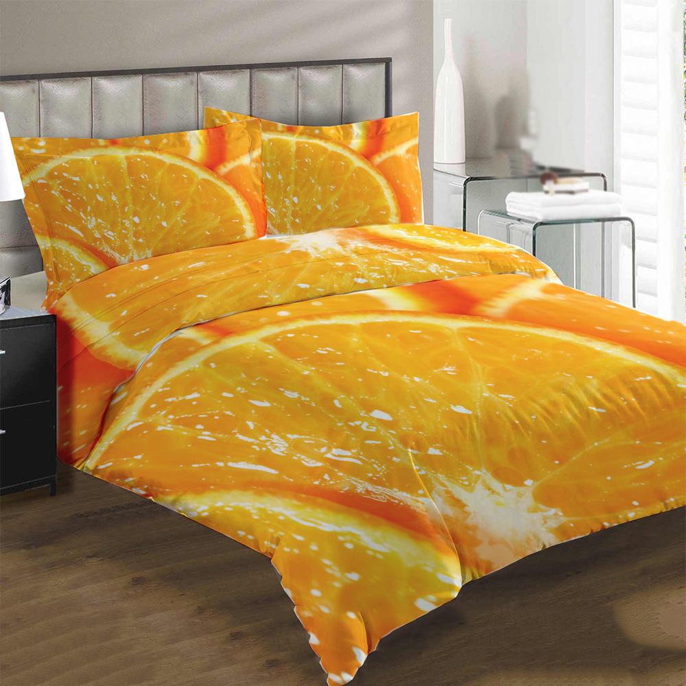 Obliečky Pomaranč (Rozmer: 1x140/200 + 1x90/70)