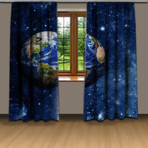 Závesy Planéta Zem (Rozmer: 140x250)