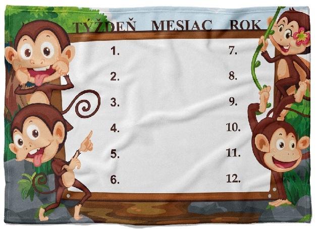 Deka míľniková – Opičky