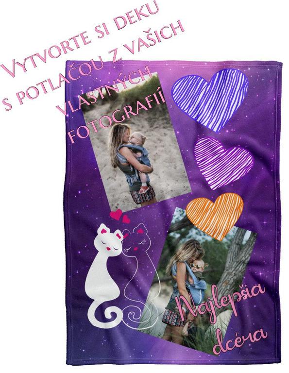 Deka Maxi s neobmedzeným počtom fotografií, textov, farieb 360g/m² 140x200 cm pre dcéru