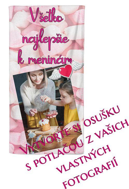 Osuška 70x140cm s neobmedzeným počtom fotografií, textov, farieb pre dcéru