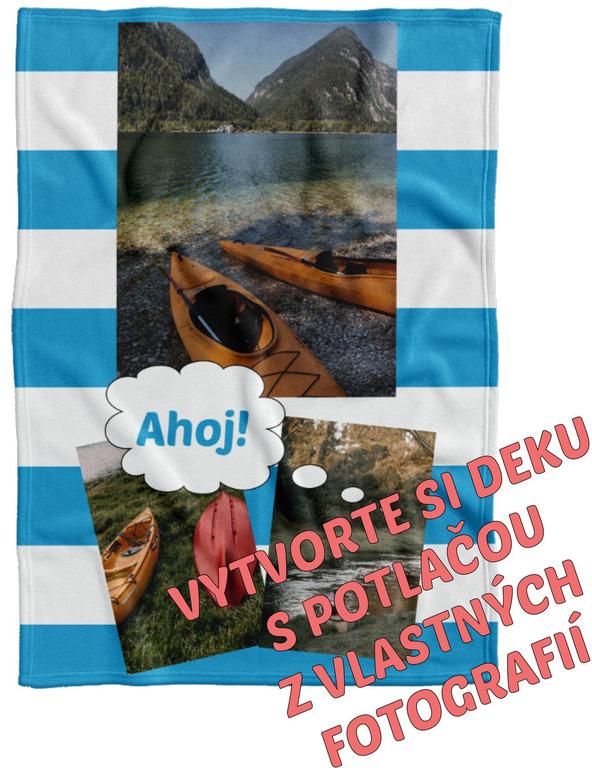 Deka Maxi s neobmedzeným počtom fotografií, textov, farieb 360g/m² 140x200 cm pre vodákov
