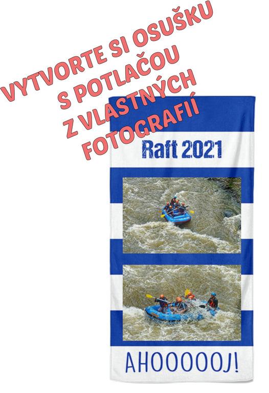 Osuška 70x140cm s neobmedzeným počtom fotografií, textov, farieb pre vodákov