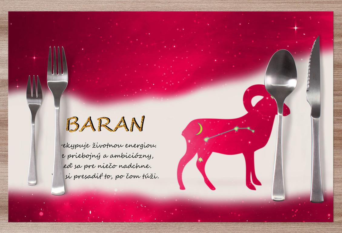 Prestieranie Baran (21.3. - 20.4.) - červené