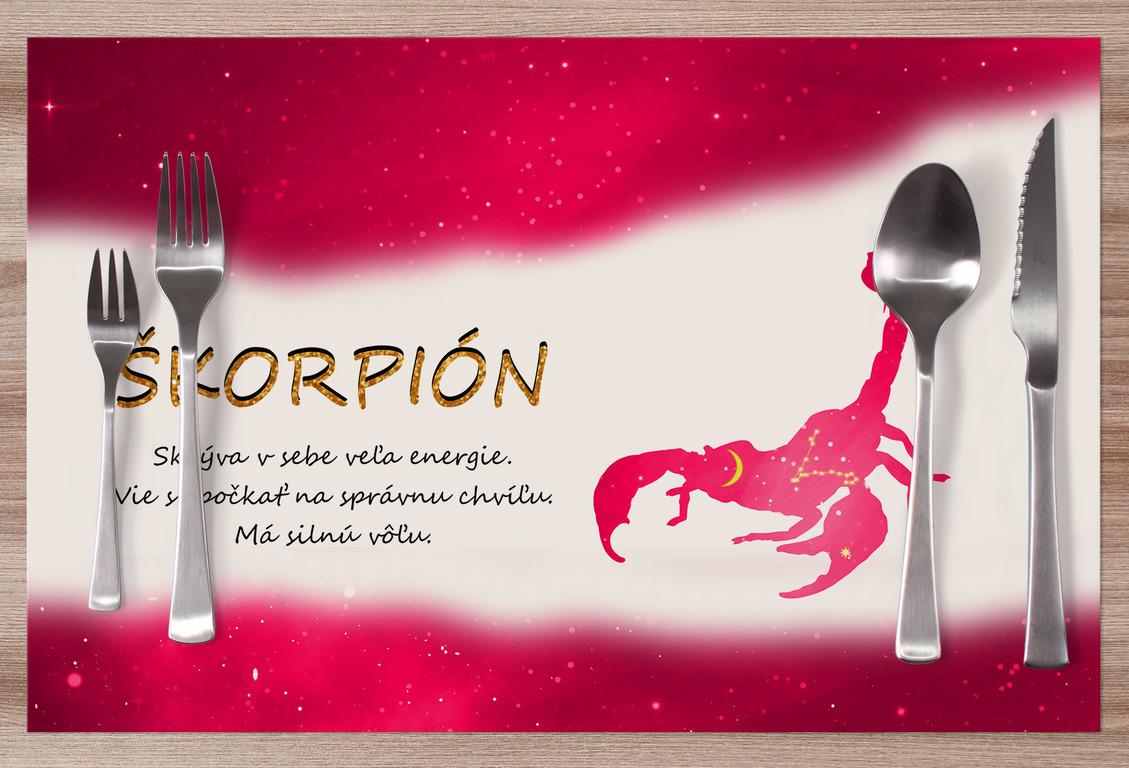 Prestieranie Škorpión (23.10. - 22.11.) - červené