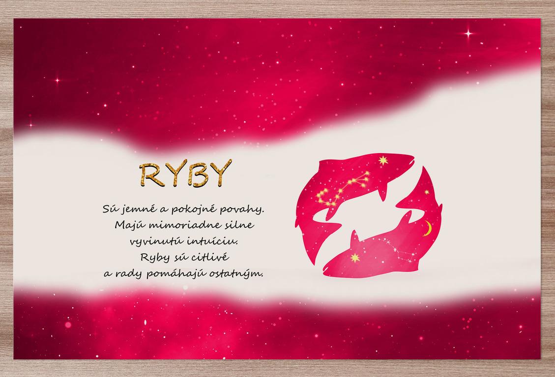 Prestieranie Ryby (21.1. - 20.3.) - červené